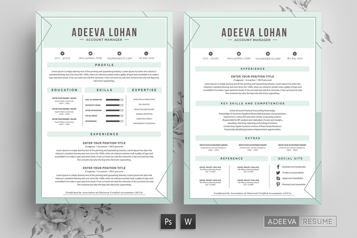 Thumbnail For Creative Resume Template Lohan