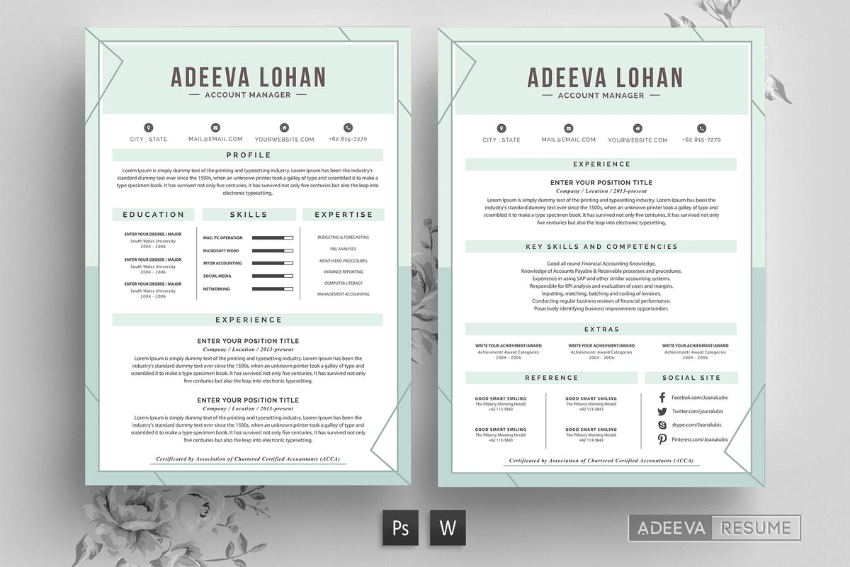 Modern Resume Template Lubis by letterhend on Envato Elements