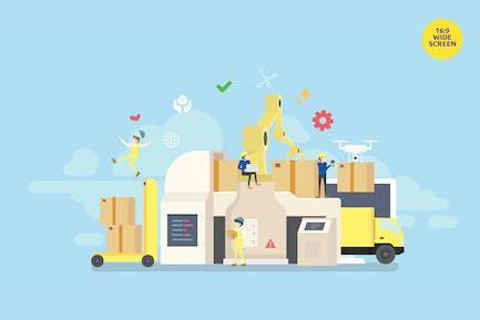 Industrial Logististic Delivery Vektor konzept