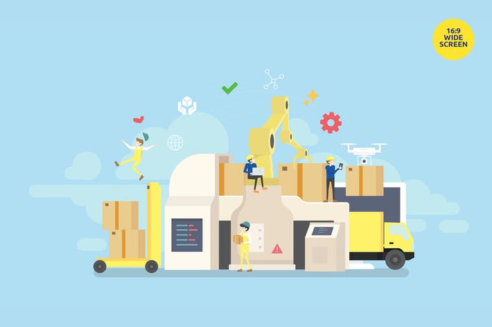 Thumbnail for Industrial Logistic Delivery Vector Concept