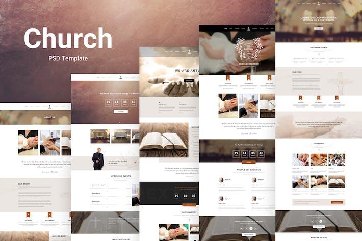 Thumbnail for Antlia - Church & Religion PSD Template