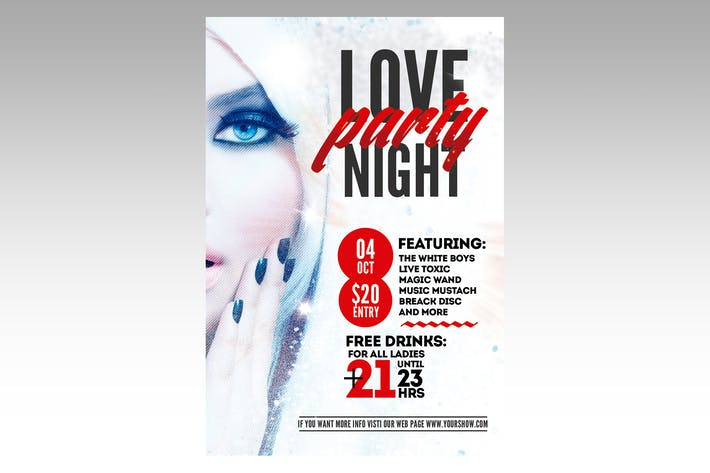 Thumbnail for Love Party Night Flyer Poster
