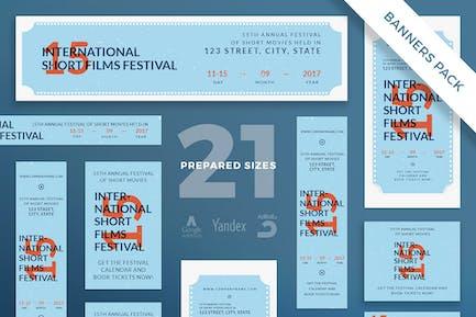 Modèle de pack de bannière pour festival du film