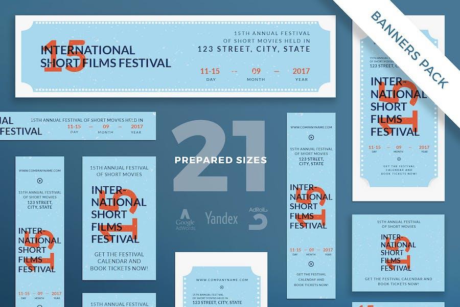 Film Festival Banner Pack Template