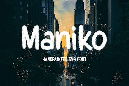 Maniko - Police Svg peinte à la main