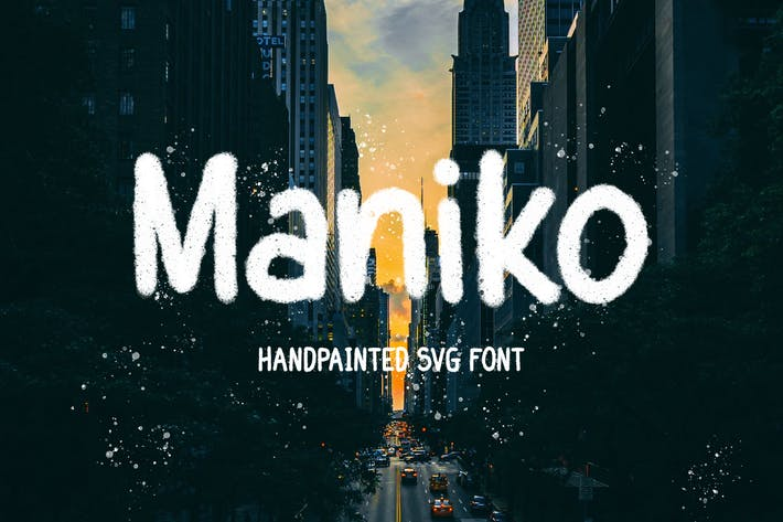 Maniko - Handpainted Svg Font