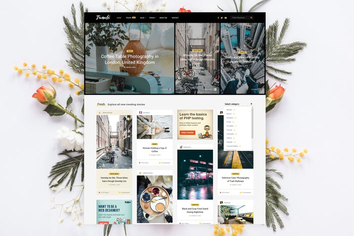 Cover Image For Tumli - Personal Masonry WordPress Theme