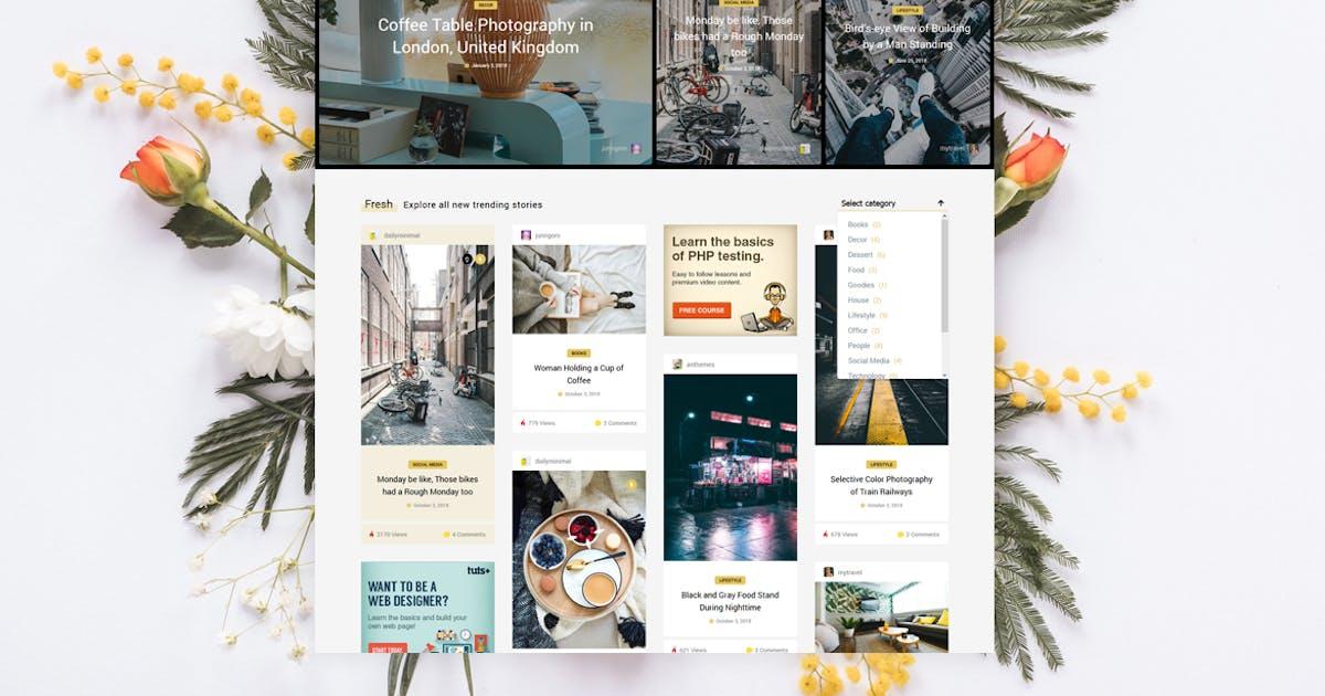 Download Tumli - Personal Masonry WordPress Theme by An-Themes