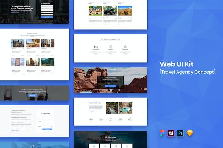 Thumbnail for Travel Agency Web UI Kit