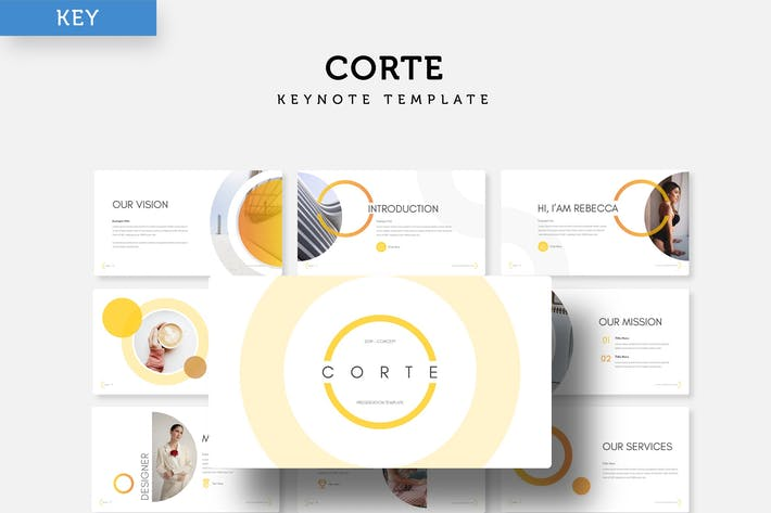 Thumbnail for Corte - Keynote Template