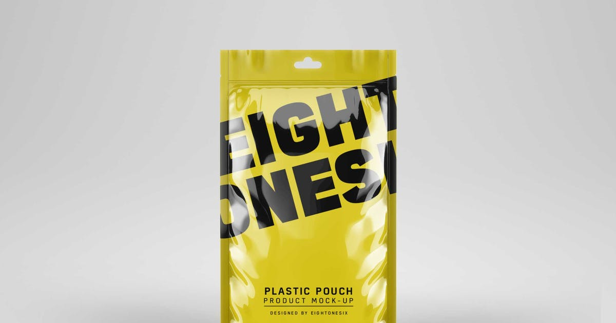 Download Plastic Pouch Product Mock-Up by EightonesixStudios