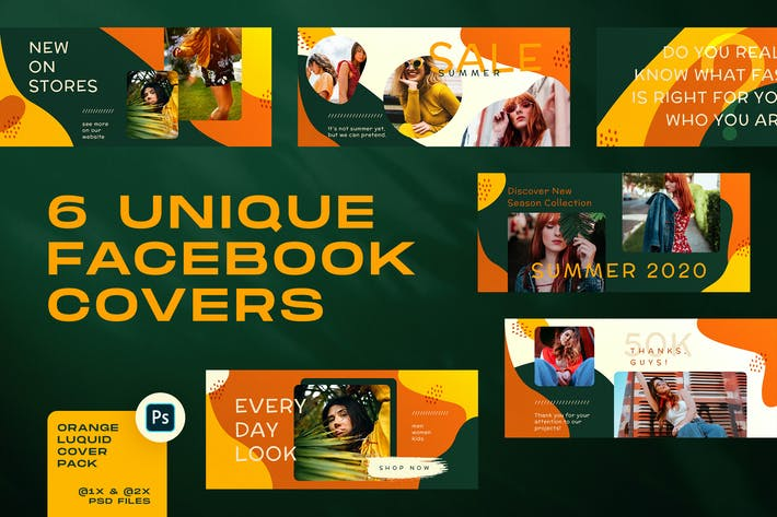 Thumbnail for Orange Liquid Facebook Covers