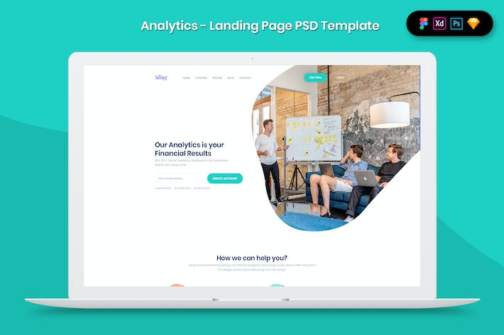 Thumbnail for Analytics - Landing Page Template