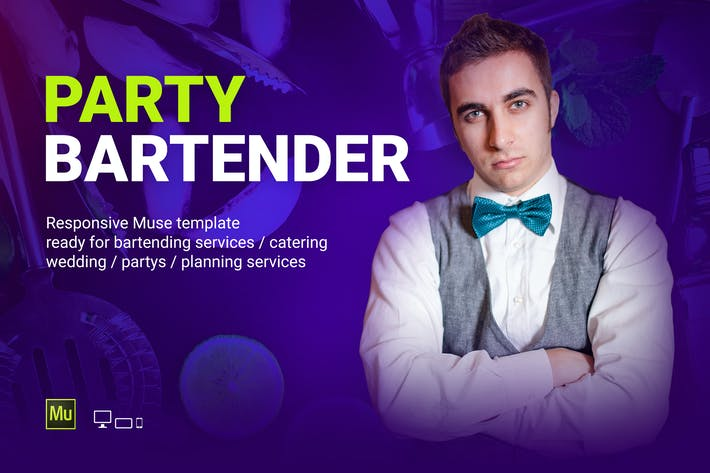 Cover Image For Party Bartender - Bartending Services / Catering