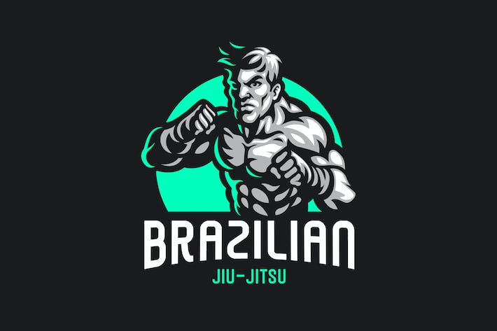 Thumbnail for Brazilian Jiu jitsu Logo Template