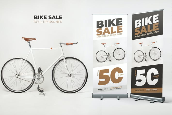 Thumbnail for Bike Sale Roll Up Banner