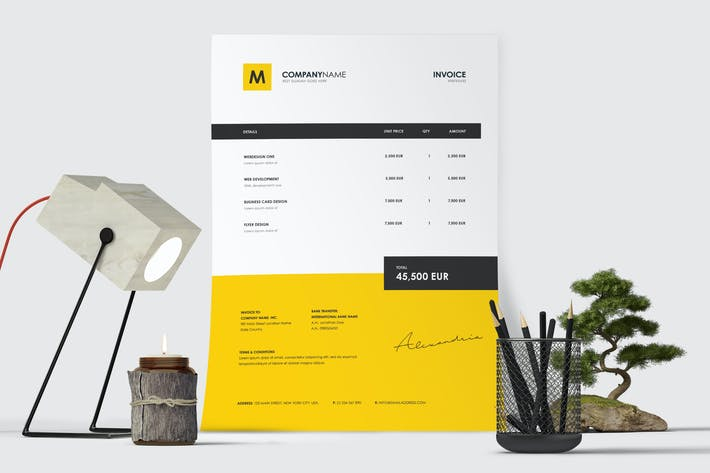 Thumbnail for Minimal Invoice Template 52