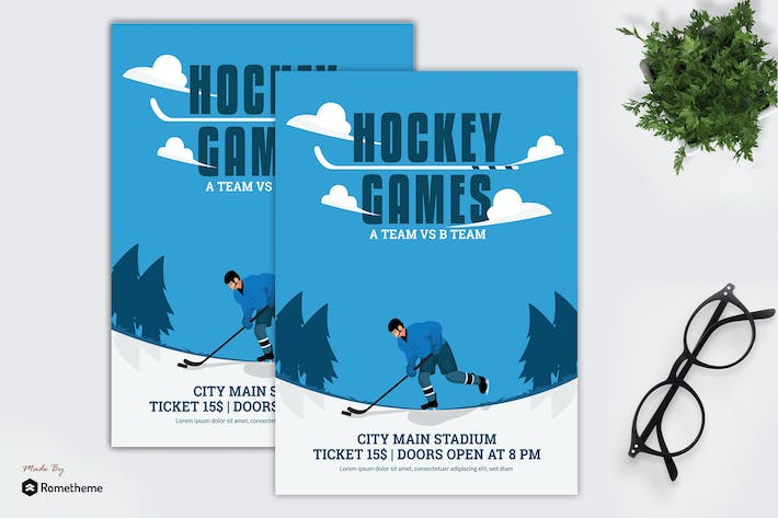 Thumbnail for Hockey Games - Flyer Template GR