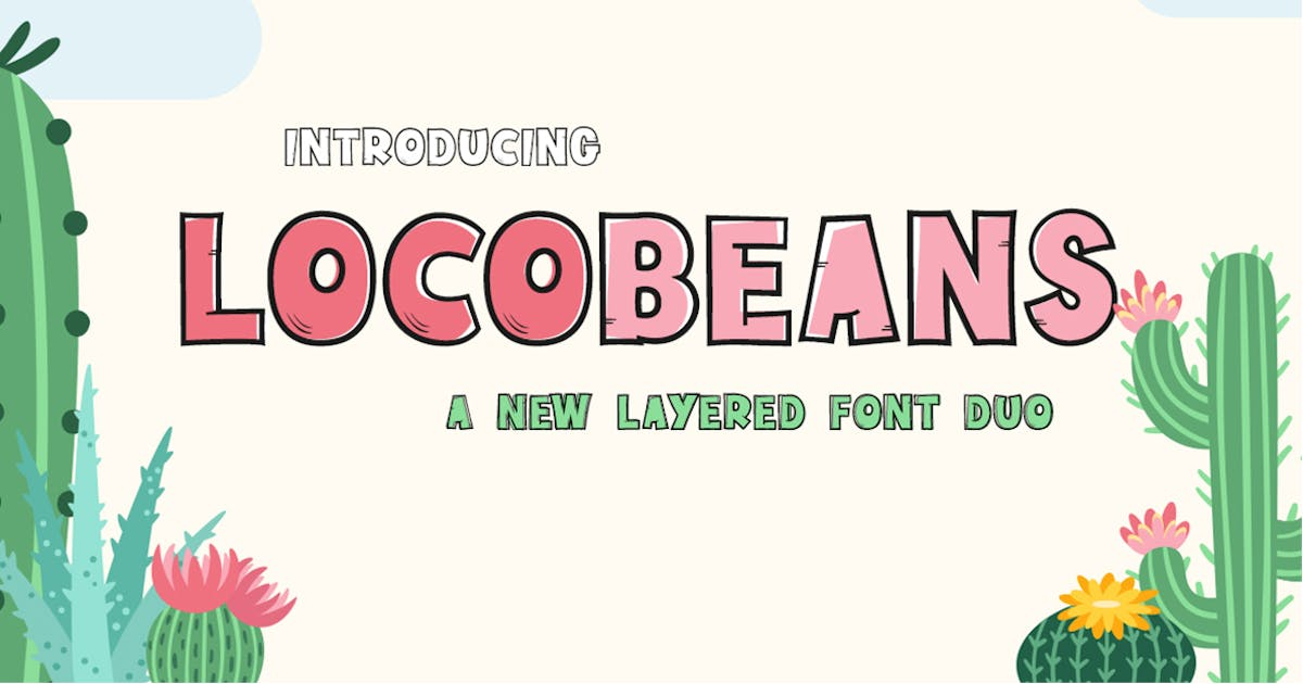 Download Locobeans Font Duo by maroonbaboon