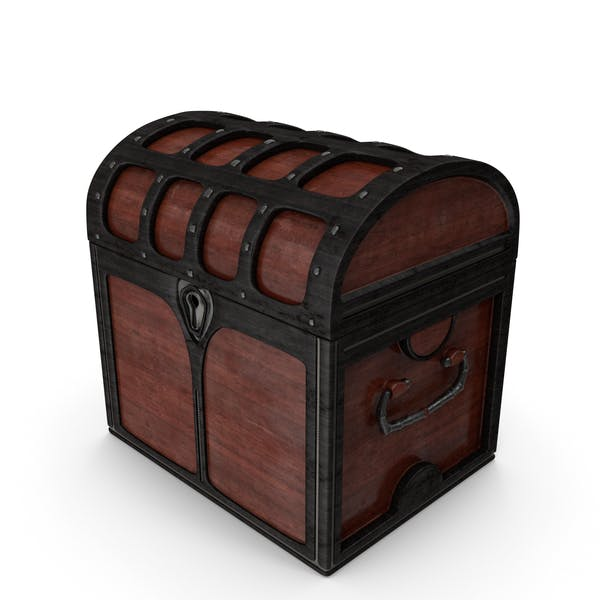 Small Wooden Chest Locked