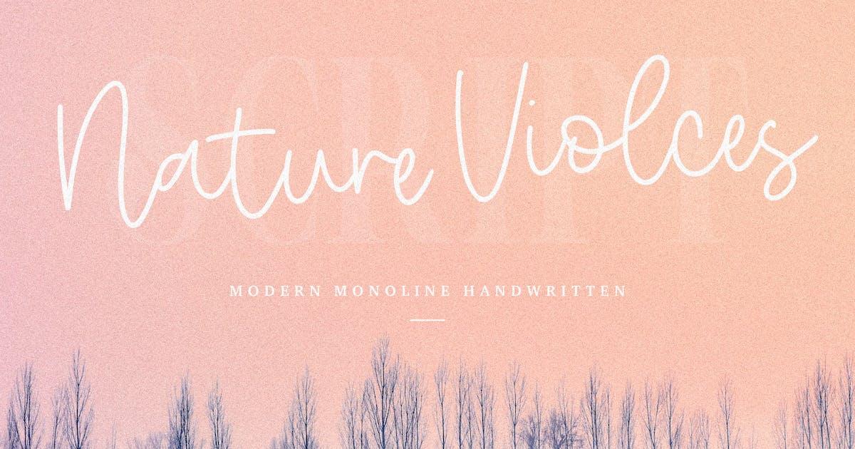 Nature Violces Script Font YH by GranzCreative
