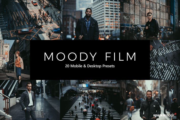 Thumbnail for 20 Moody Film Lightroom Presets & LUTs