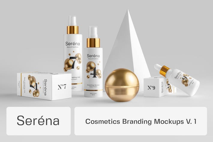 Thumbnail for Serena – Cosmetics Branding Mockups Vol. 1