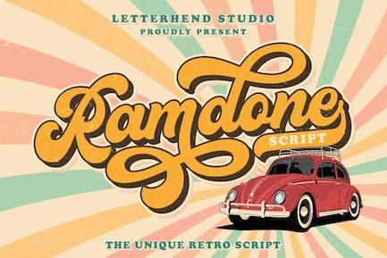 Ramdone - Retro Script