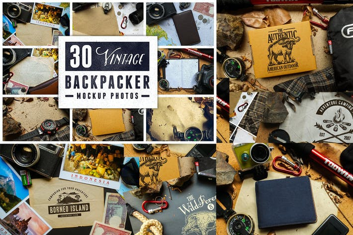 Thumbnail for 30 Vintage Backpacker Mockup Photos