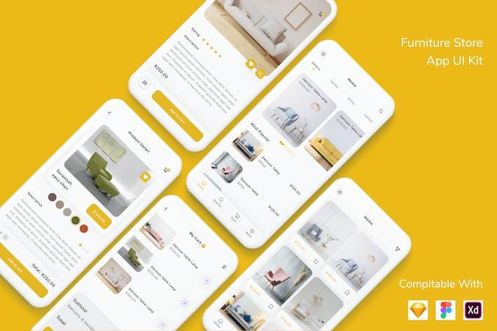 Thumbnail for Furniture Store App UI Kit