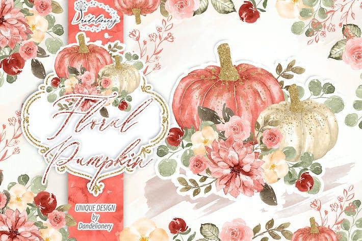 Thumbnail for Floral Pumpkin design