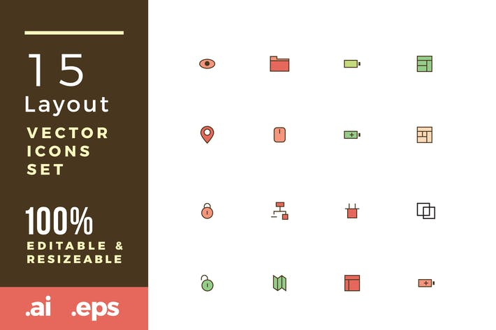 Thumbnail for 15 Layout vector icons