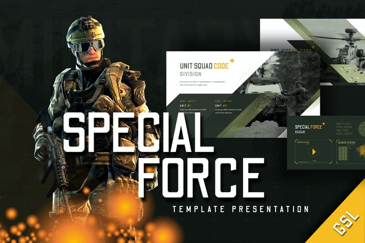 Thumbnail for Special Force - Google Slides Template