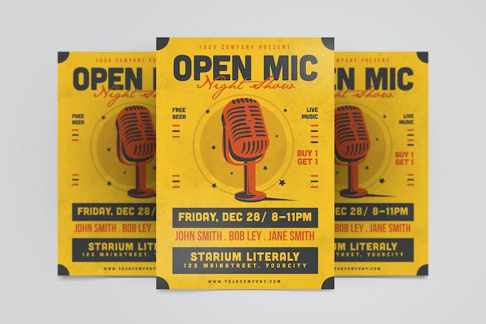 Thumbnail for Open Mic Flyer
