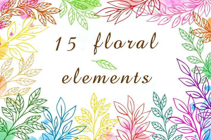 Cover Image For Floral Design Elements
