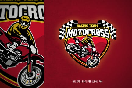 motocross racing team logo template