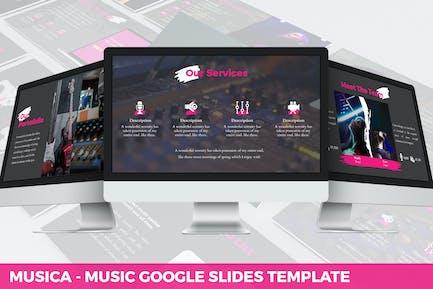 Musica - Развлечения Google Слайды Шаблон