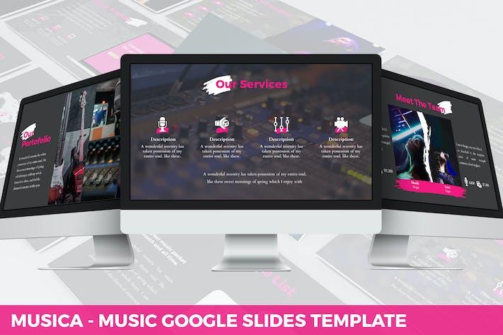 Thumbnail for Musica - Entertainment Google Slides Template