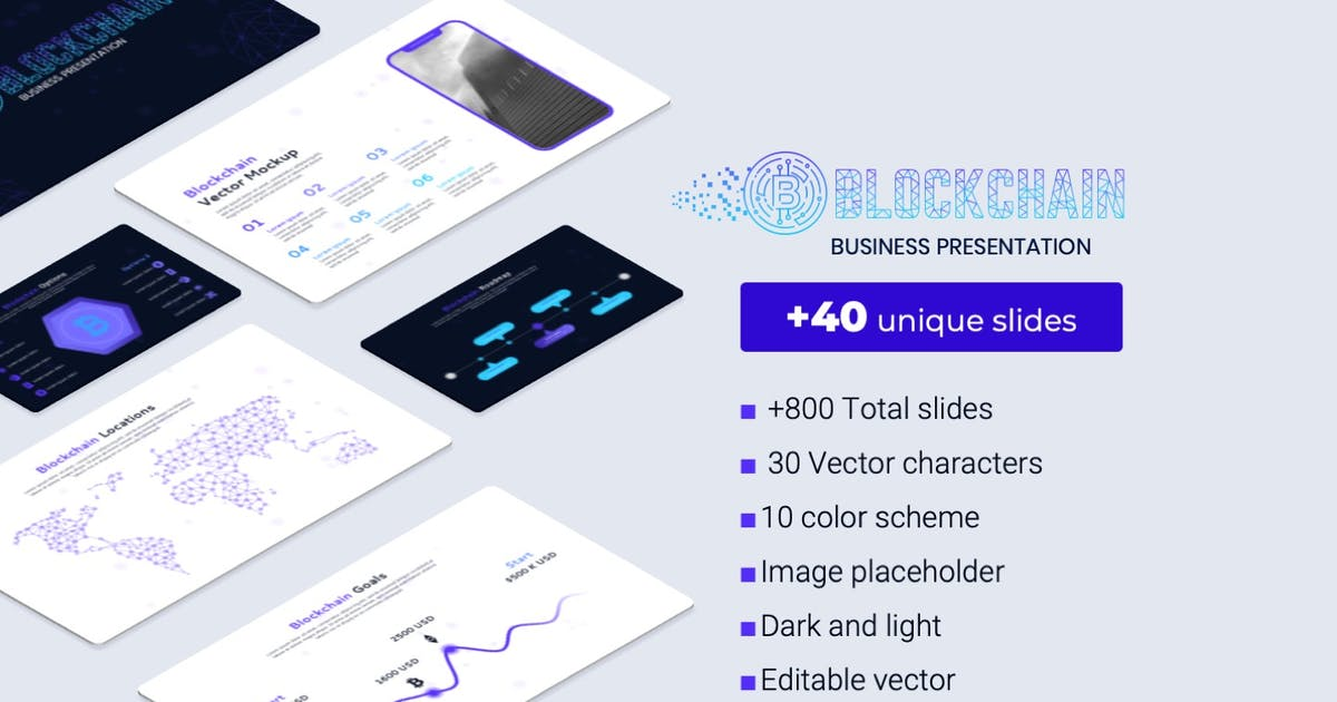 Download Blockchain PowerPoint business Template by Premast