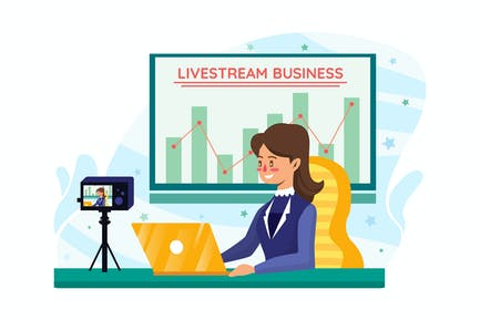 Businesswoman coaching online