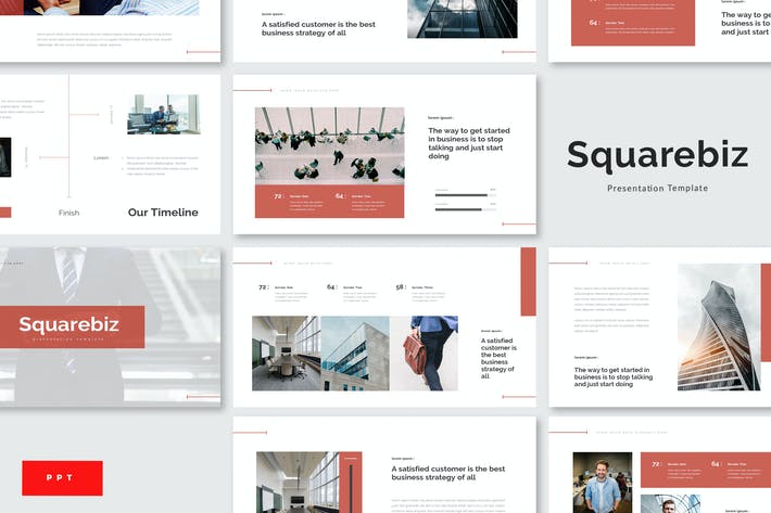 Cover Image For Squarebiz - Plantilla de PowerPoint para empresas