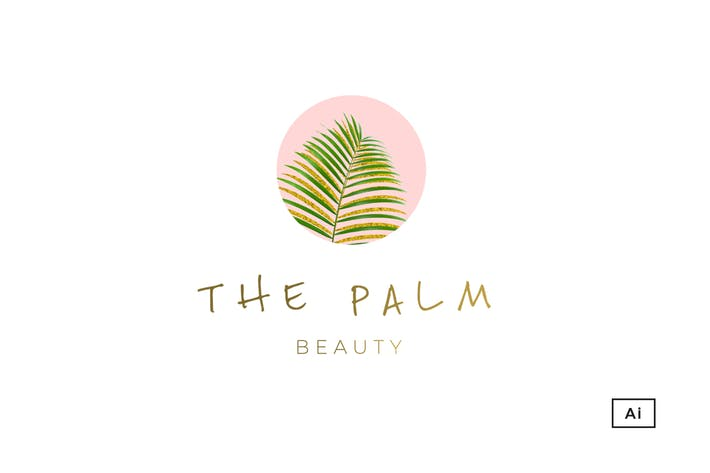 Thumbnail for The Palm Tropical Logo Template