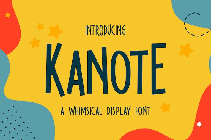 Thumbnail for Kanote - Whimsical Display Font