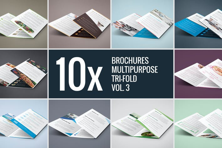 Thumbnail for Brochures – Multipurpose Tri-Fold Bundle vol. 3