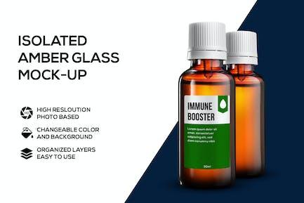 Amber glass mockup