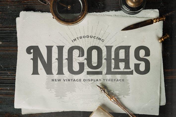 Nicolas - Police de style victorien