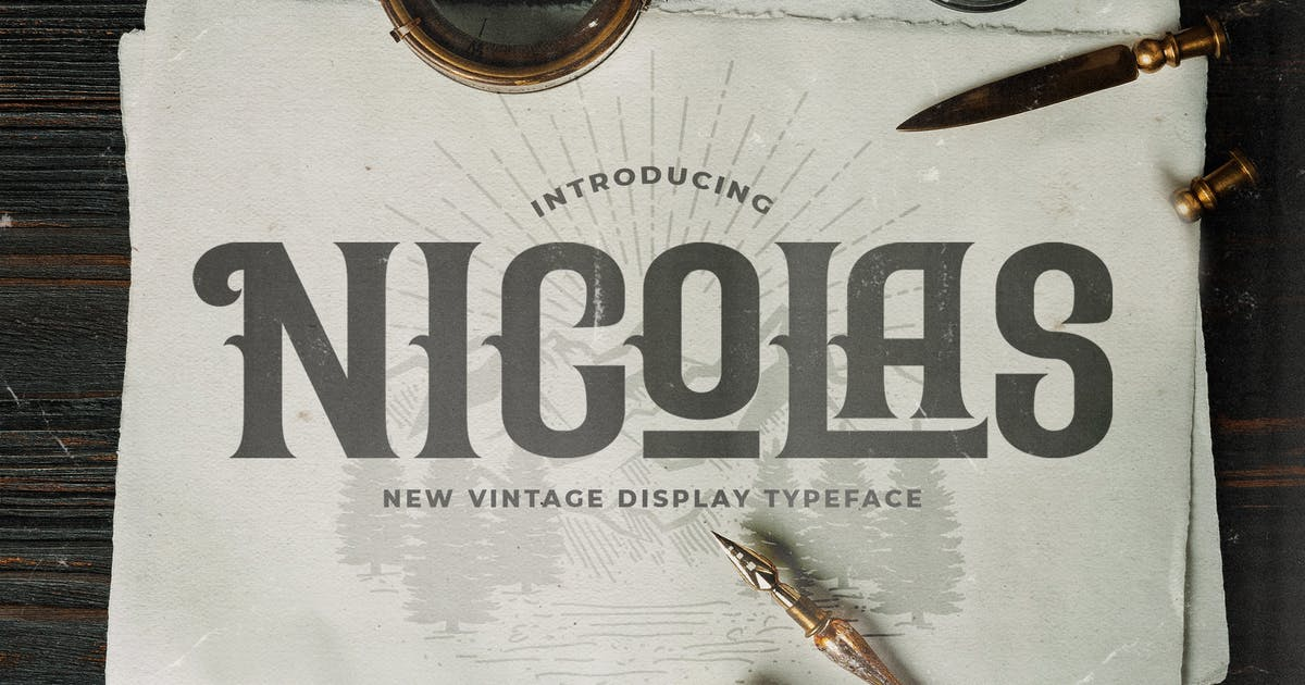 Download Nicolas - Victorian Style Font by StringLabs