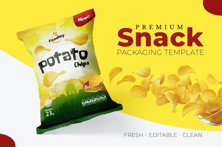 Thumbnail for Clean Snack Packaging Template