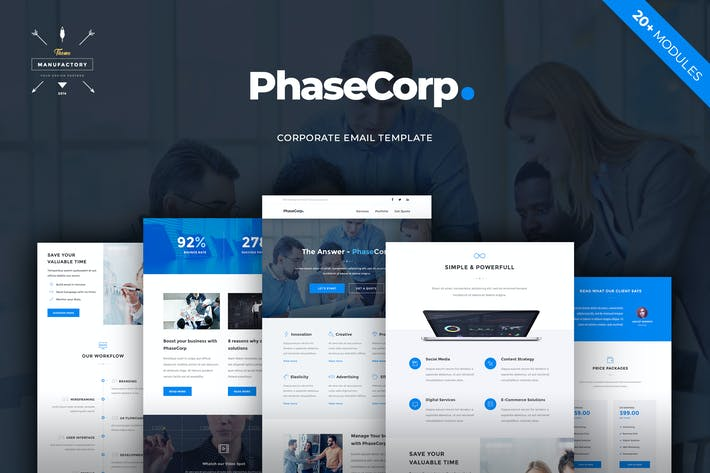 Thumbnail for PhaseCorp - Corporate E-newsletter Template