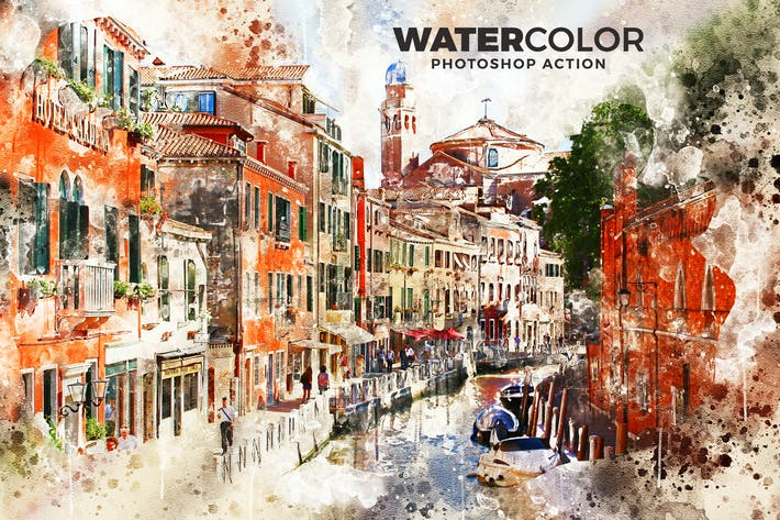 Thumbnail for Watercolor Photoshop Action